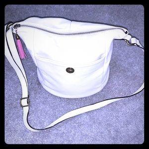 Elliot Lucca cross shoulder bag purse with leather